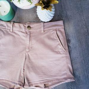 AEO | Super Stretch High Rise Pink Shorts Size 10